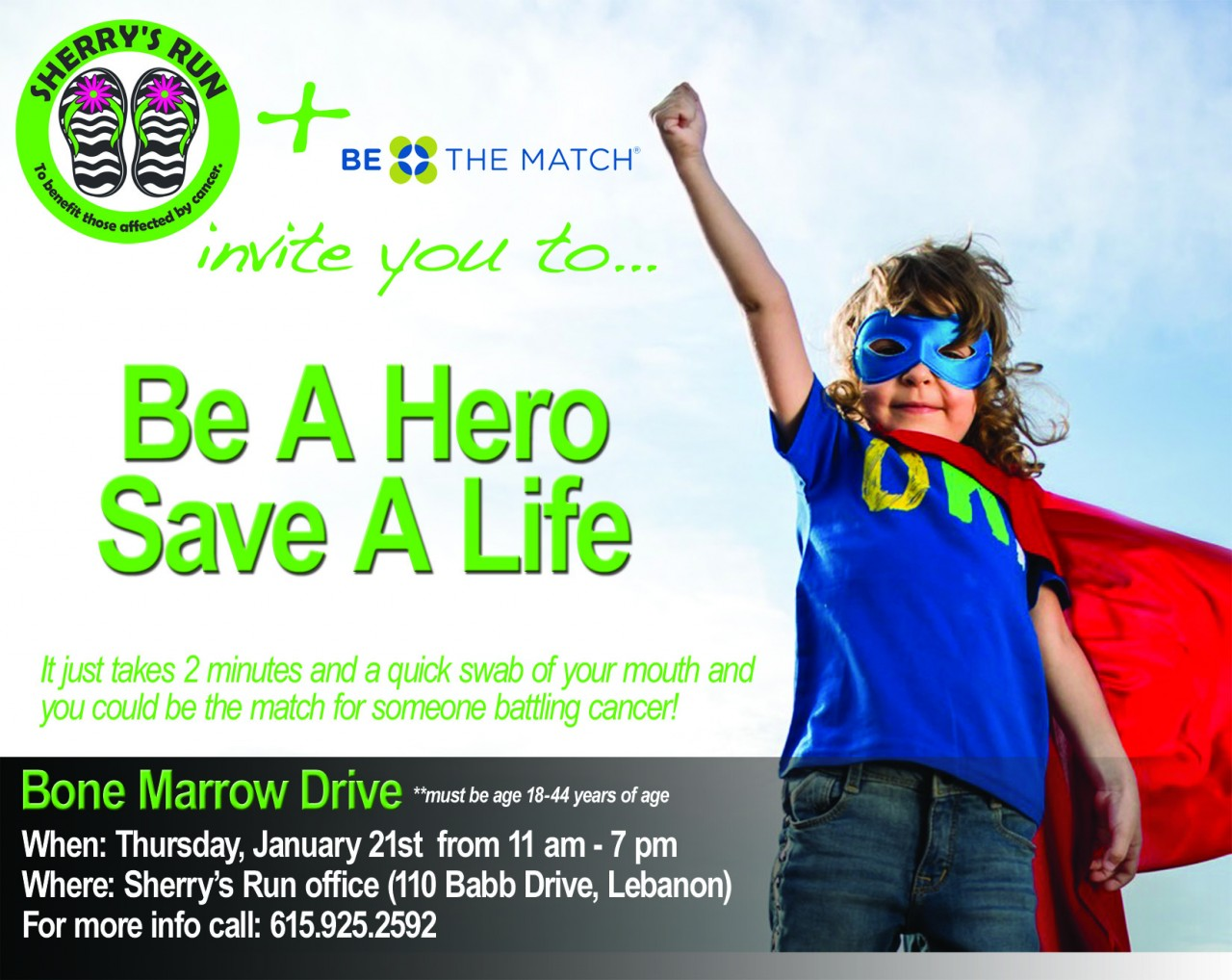 Be A Hero. Save A Life.