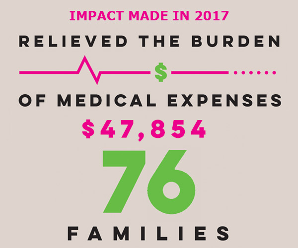 mobile slide 2017 Impact Medical Expenses 76families