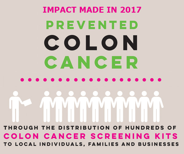 mobile slide 2017 Impact colon cancer screenings