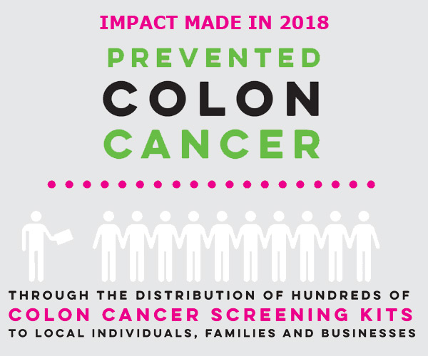 mobile slide 2018 Impact colon cancer screenings