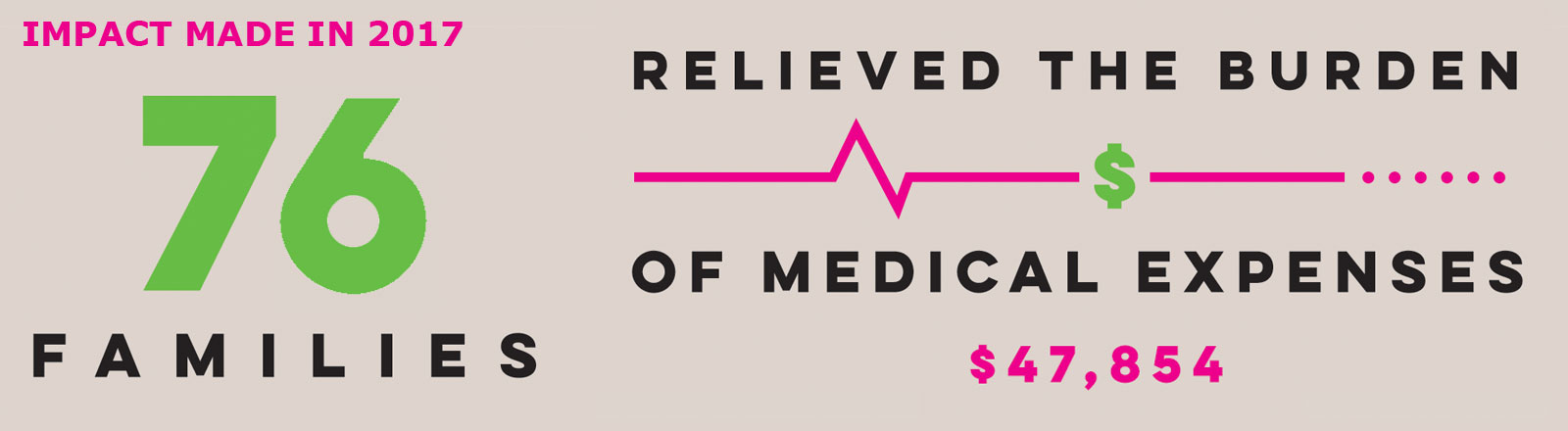 slide 2017 Impact Medical Expenses 76families